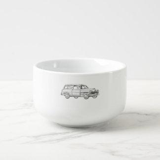 1950 Mercury Woodie Station Wagon Soup Mug