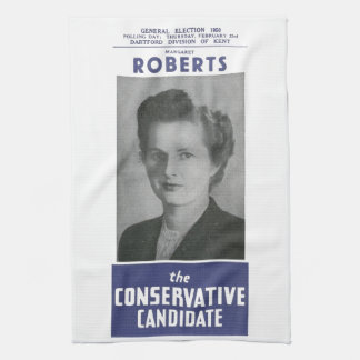 1950 Mrs Thatcher Election Poster Hand Towel