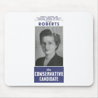 1950 Mrs Thatcher Election Poster Mouse Pad