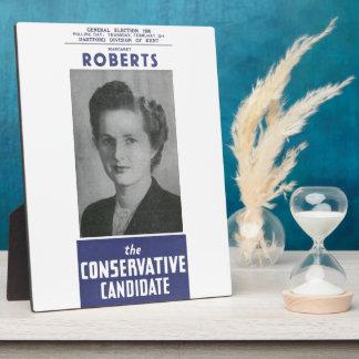 1950 Mrs Thatcher Election Poster Plaque