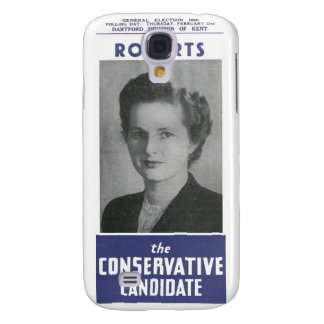 1950 Mrs Thatcher Election Poster Samsung Galaxy S4 Case