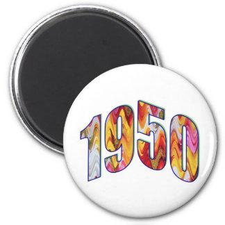 1950 nacido imán redondo 5 cm