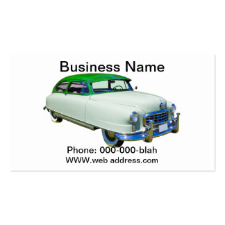 1950 Nash Ambassador Antique Car Business Cards