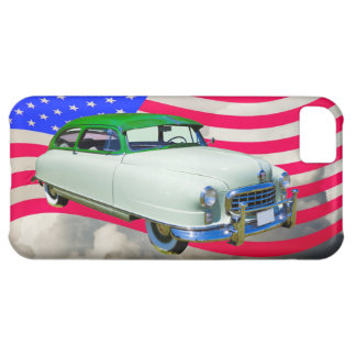 1950 Nash Ambassador Car And American Flag iPhone 5C Cover