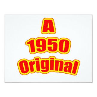 1950 Original Red Card
