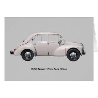 1950 Renault Sedan Card