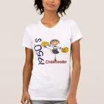 1950's Cheerleader Stick Figure T-shirts