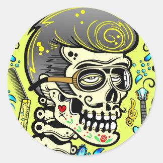 1950's Zombie Rocker Classic Round Sticker