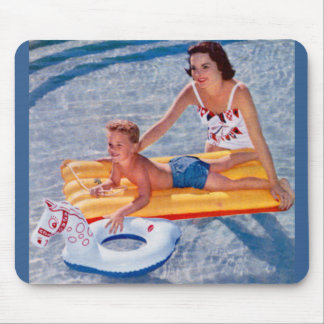 1950 summer in the pool mouse pad