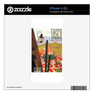 1950 Tasco Mexico Travel Poster Decals For iPhone 4S