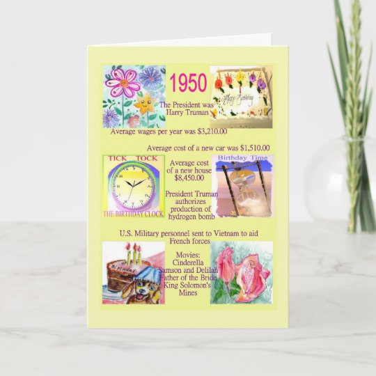 1950 The Year You Were Born Card