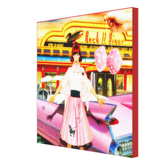 1950's At The Diner Canvas Print