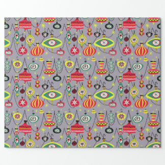 1950s Atomic Mid-Century Modern Christmas Wrapping Paper