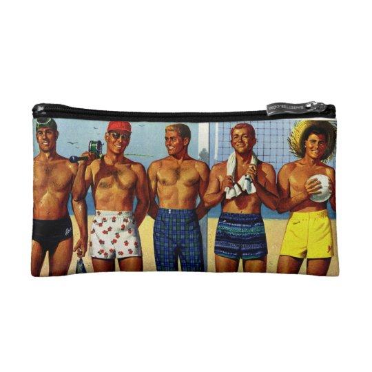 1950s Beach Dudes Cosmetic Bag
