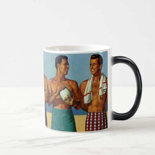 1950s Beach Dudes Magic Mug
