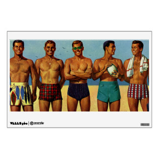 1950s Beach Dudes Wall Decals