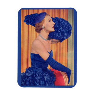 1950s beautiful in blue magnet