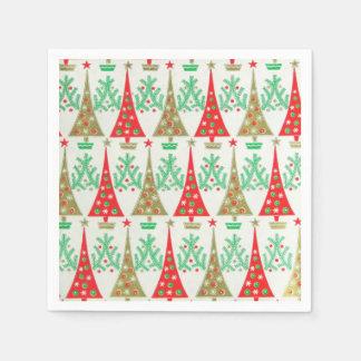 1950s Cartoon Christmas Tree Cocktail Napkins Paper Napkins