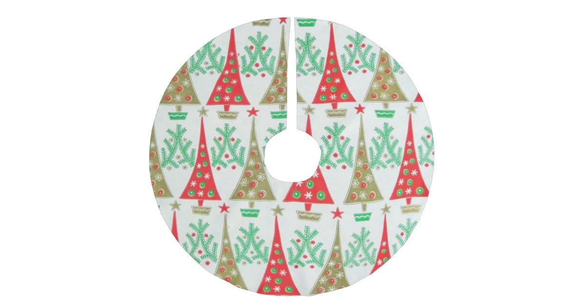 S cartoon christmas tree skirt zazzle