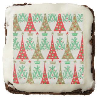 1950s Cartoon Christmas Tree Square Brownies Square Brownie