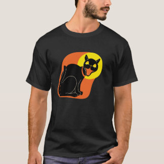 1950s Cat and Moon T-Shirt