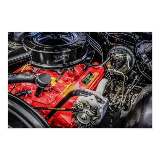 1950s Chevrolet 327 Turbo Fire V8 engine Poster