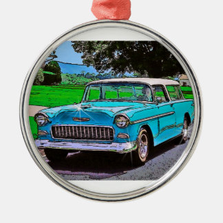 1950's Chevy Nomad Metal Ornament