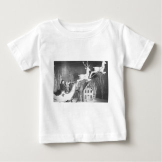 1950's Children on Santa's Sleigh Baby T-Shirt
