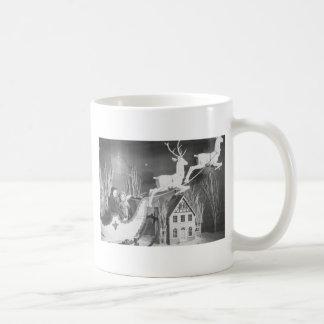 1950's Children on Santa's Sleigh Coffee Mug