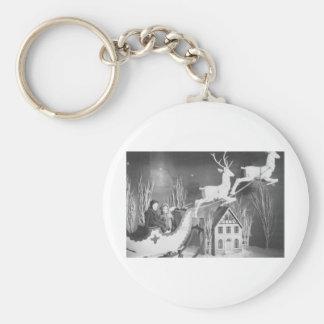 1950's Children on Santa's Sleigh Keychain