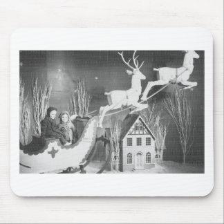 1950's Children on Santa's Sleigh Mouse Pad