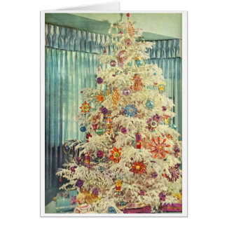 1950s Christmas Tree Card
