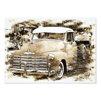 1950's Classic Chevy Chevrolet Truck Card