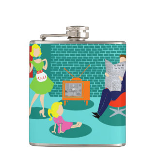 1950's Classic Television Flask