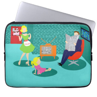 1950's Classic Television Laptop Sleeve