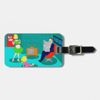 1950's Classic Television Luggage Tag