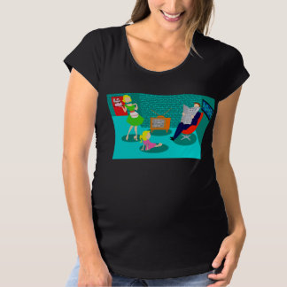 1950's Classic Television Maternity T-Shirt