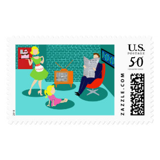 1950's Classic Television Postage Stamp