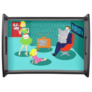 1950's Classic Television Serving Tray