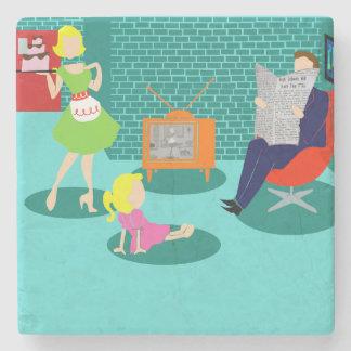 1950's Classic Television Stone Coaster
