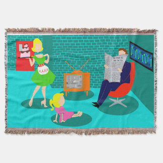 1950's Classic Television Throw Blanket