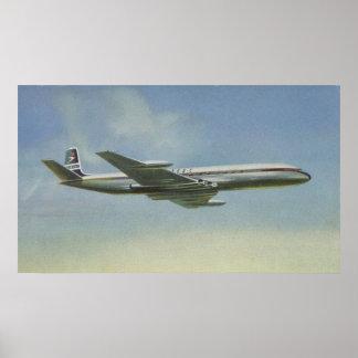 1950s Comet Jetliner Poster