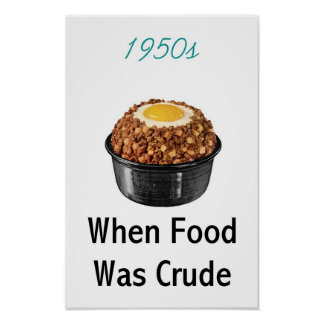 1950s Crude Food Poster