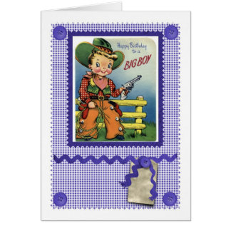 1950'S CUTE COWBOY CARD FOR A BIG BOY