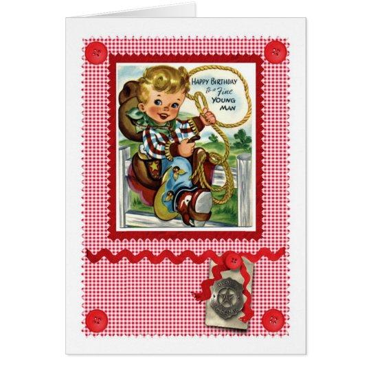 1950'S CUTE COWBOY GREETINGS CARD