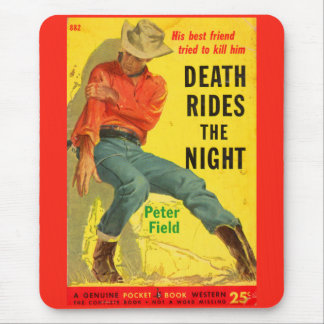 1950s Death Rides the Night western book cover Mouse Pad
