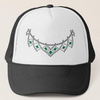 1950s Diamond Emerald Necklace Trucker Hat