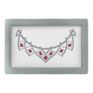 1950s Diamond Ruby Necklace Belt Buckles
