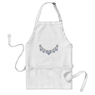 1950s Diamond Sapphire Necklace Adult Apron