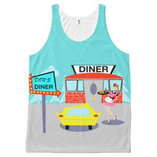 1950's Diner All-Over Print Tank Top